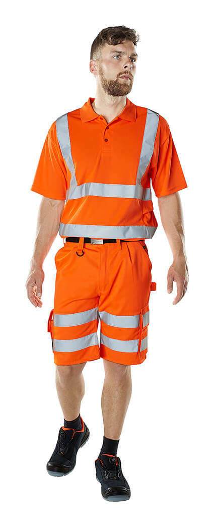 Model - Shorts & Polo-Shirt - Hi-Vis Orange - MASCOT® SAFE CLASSIC