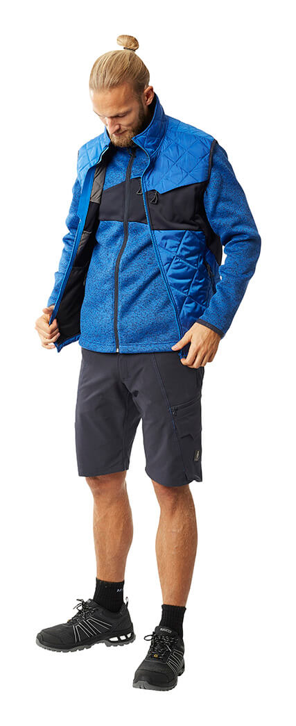 Herr - Kornblau - MASCOT® ACCELERATE Thermoweste, Pullover & Arbeitsshorts